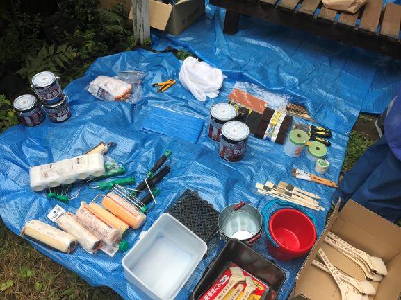 ペンキ塗り道具