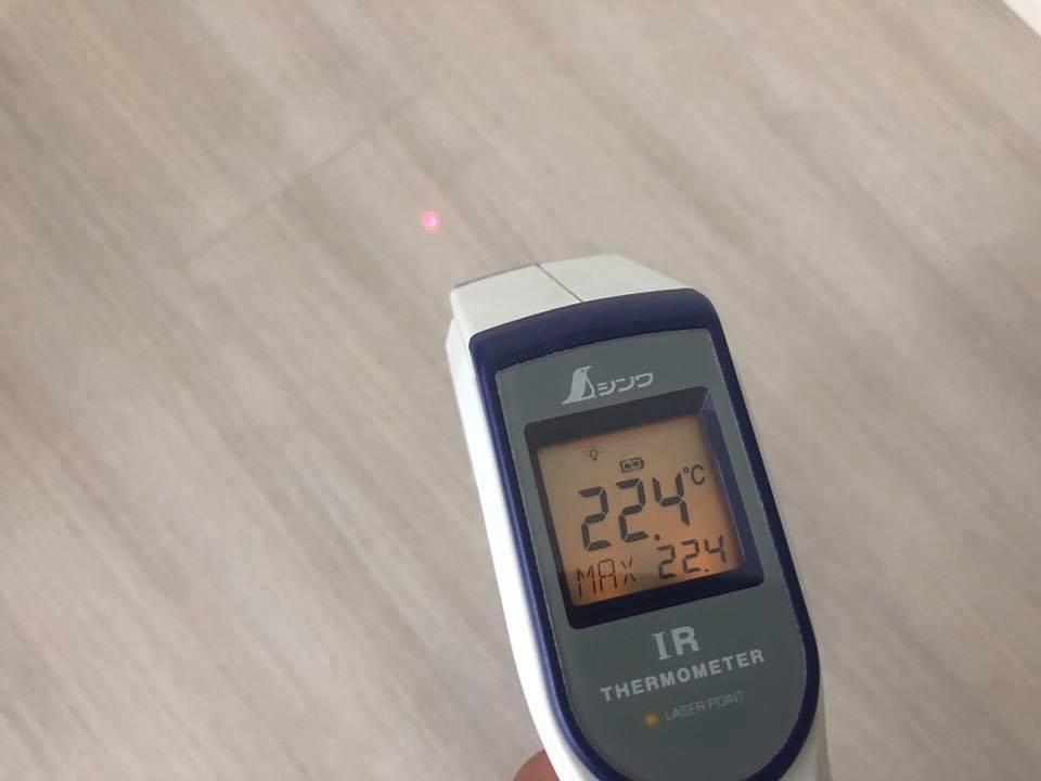 床表面温度